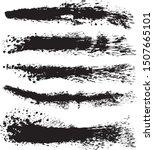 set of brush stroke... | Shutterstock .eps vector #1507665101