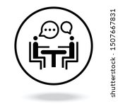 business consulting icon vector....   Shutterstock .eps vector #1507667831