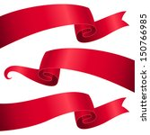 set of red ribbons for design... | Shutterstock .eps vector #150766985