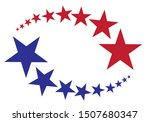a frame made of small stars... | Shutterstock .eps vector #1507680347