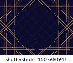 art deco frame. vintage linear... | Shutterstock .eps vector #1507680941