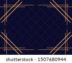 art deco frame. vintage linear... | Shutterstock .eps vector #1507680944