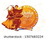 creative design for navratri... | Shutterstock .eps vector #1507683224