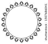 round frame concept of spiral... | Shutterstock .eps vector #1507686041