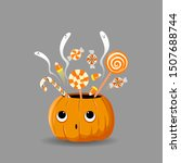 Halloween Candies In Pumpkin...