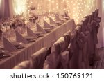 table set for wedding or... | Shutterstock . vector #150769121