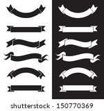 black and white ribbons | Shutterstock .eps vector #150770369