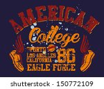 college athletic sports vector... | Shutterstock .eps vector #150772109