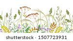 seamless horizontal border made ... | Shutterstock .eps vector #1507723931
