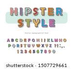 hipster style font design.... | Shutterstock .eps vector #1507729661