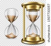 set of realistic transparent... | Shutterstock .eps vector #1507733357