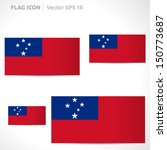 samoa flag template   vector... | Shutterstock .eps vector #150773687