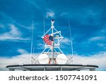 United States Flag On A Boat...