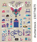 hipster info graphic elements... | Shutterstock .eps vector #150774875