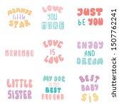 lettering typography girl...   Shutterstock .eps vector #1507762241