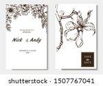 herbal illustration on label... | Shutterstock .eps vector #1507767041