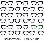 Seamless spectacles, glasses pattern, eyeglasses, specs pattern. Sunglasses
