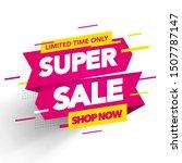 vector sale banner template... | Shutterstock .eps vector #1507787147