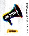 freedom of speech. no... | Shutterstock .eps vector #1507798904