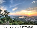 Hdr Sunset View Of Nanjing Cit...
