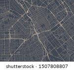 vector map of the city of San Jose, California, USA