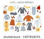 clothes and outerwear... | Shutterstock .eps vector #1507818191