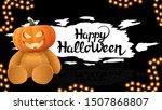 happy halloween  dark halloween ... | Shutterstock .eps vector #1507868807