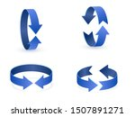3d rotation sign icon. 360... | Shutterstock .eps vector #1507891271