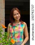 portrait of teen asian woman. | Shutterstock . vector #150792737
