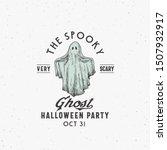 spooky ghost party halloween... | Shutterstock .eps vector #1507932917