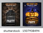 halloween party flyer with... | Shutterstock .eps vector #1507938494