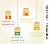 tea bags with fruit flavor  ... | Shutterstock .eps vector #150795551