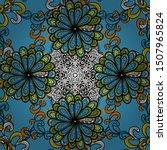 decorative vintage print.... | Shutterstock .eps vector #1507965824