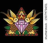 crystal flash tattoo design ... | Shutterstock .eps vector #1507973651