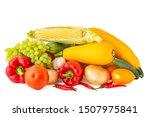 big set of vegetables rose... | Shutterstock . vector #1507975841
