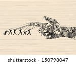 strategy behind the right... | Shutterstock .eps vector #150798047