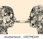 debate. the science of... | Shutterstock .eps vector #150798149
