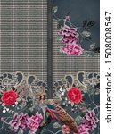 flowers embroidery baroque... | Shutterstock . vector #1508008547