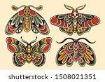moth hand drawing old school...   Shutterstock .eps vector #1508021351