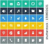 flat icons set   basic internet ... | Shutterstock .eps vector #150802631