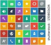 flat icons set   basic internet ... | Shutterstock .eps vector #150802634