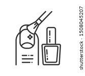 procedure manicure black line...