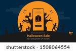 happy halloween sale with... | Shutterstock .eps vector #1508064554