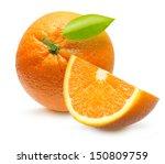 Orange Fruit Isolated On White...