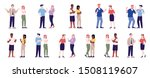 people behavior flat vector... | Shutterstock .eps vector #1508119607