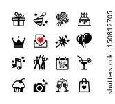 Icons Set Party  Birthday