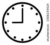 clock icon vector  line...