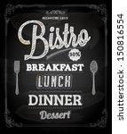 bistro chalkboard poster ...   Shutterstock .eps vector #150816554