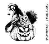 Halloween. Wall Sticker. Hand...