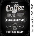 chalkboard poster lettering...   Shutterstock .eps vector #150816845